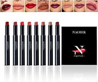 Matte Lipstick Set, NAQIER 8PCS Nude Moisturizer Smooth Lip