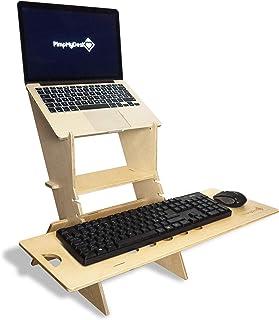 PimpMyDesk Standing Desk - Poste de Travail réglable en Hauteur, Support d'ordinateur Portable de Bureaux Debout pour la M...