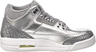 Nike Jordan Women's Air Jordan 3 Retro Prem HC Metallic/Silver/Cool/Grey Basketball Shoe 7.5 Women US