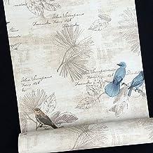SimpleLife4U Blue Birds Contact Paper Handwriting Pattern Self-Adhesive Shelf Liner..