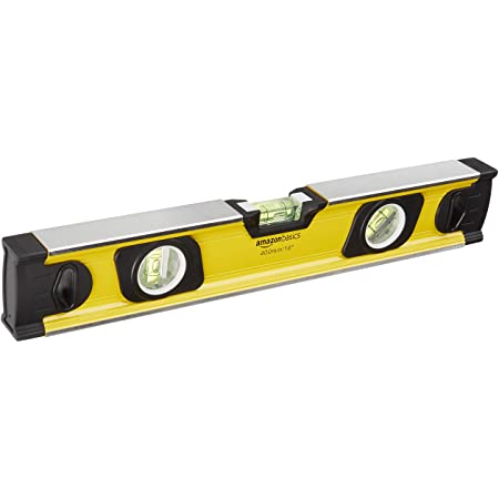 Amazon Basics Heavy-Duty Aluminum Alloy Magnetic Spirit Level with Carrying Bag - 16-Inch
