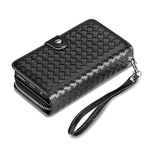 fd84911a31cb iPhone 6S Plus Case, Vofolen [Zipper Wallet] iPhone 6 Plus Cover PU Leather