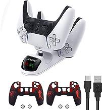 $39 » AZUOYI Ps5 Dualsense Controller Charging Station, Controller USB Charger Dock for Playstation 5, Charge to Two Dualsense W...