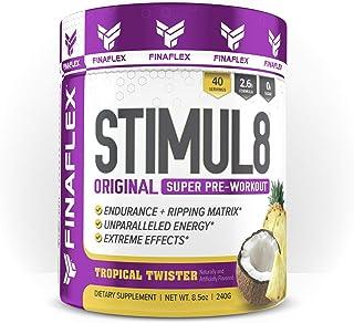Finaflex Stimul8 Pre-Workout Powder, Tropical Storm, 7 Ounce
