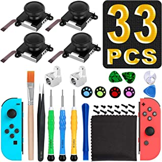 Joycon Joystick Replacement, (4 Pack) Switch Analog Stick Parts for Nintendo Switch Joy Con, Switch Controller Repair Kit