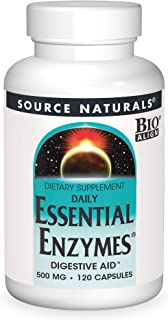 Source Naturals Essential Enzymes 500mg Bio-Aligned Multiple Supplement Herbal Defense For Digestion, Gas & Constipation R...