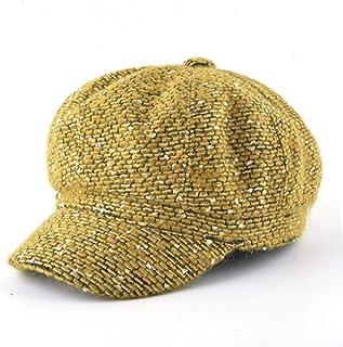 d7a44f5fa450b Autumn Berets Newsboy hat Women Vintage Flat Cap Girl Octagonal caps  British Solid Gorras casequette