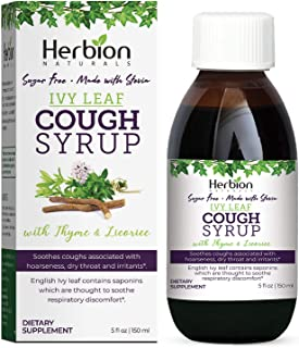 Herbion Naturals Ivy Leaf Syrup with Thyme and Licorice, 5 - Helps Maintain Respiratory and Bronchial Health, Supports Hea...