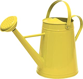 Tierra Garden 36-5081Y Traditional Metal Watering Can, 2.1-Gallon, Yellow