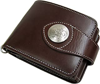 日本製 Maturi 国産 ヌメ革 2WAY 二つ折り 財布 イーグルコンチョ マトゥーリ MR-028 BR