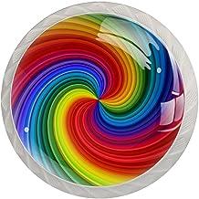 Lade knop Pull handvat 4 stuks Crystal Glass Cabinet lade trekt kast knopen,Swirl Tie Dye