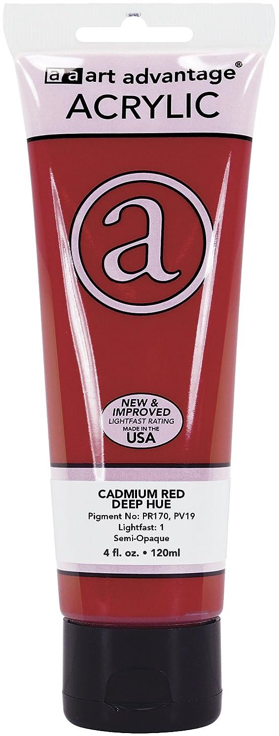 Art Advantage 4-Ounce Tube Acrylic Paint, Cadmium Red Deep Hue