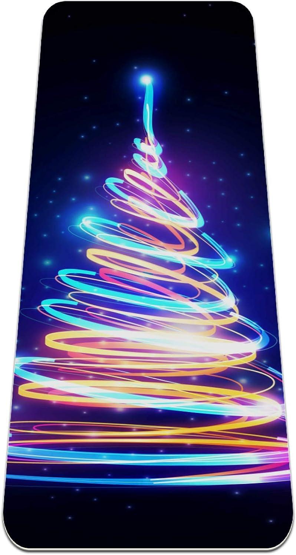 Siebzeh Max 90% OFF Colorful Lights Christmas Tree Premium Ec Thick Mat Yoga Ranking TOP8