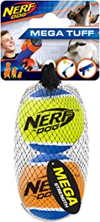 Nerf Dog Tennis Ball Dog Toy, Lightweight, Durable and Water Resistant, 2.5 Inches, For Small/Medium/Large Breeds, Two Pac...