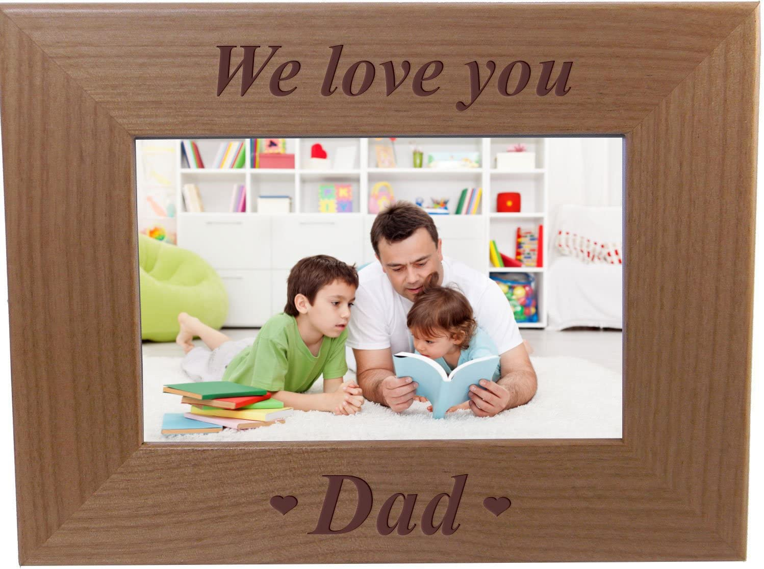 Long-awaited CustomGiftsNow We Love You Dad - Wood Frame F Engraved Ranking TOP4 Picture