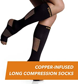 Copper-Infused Long Compression Socks, Comfortable and Durable Design