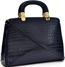 Dasein Faux Croco Leather Hinge Handle Laptop, Tablet, iPad Bag Satchel Briefcase Shoulder Handbag Purse