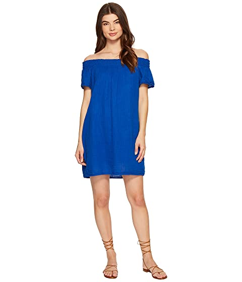 c4906ccb87f0 Michael Stars Double Gauze Smocked Off Shoulder Dress at 6pm