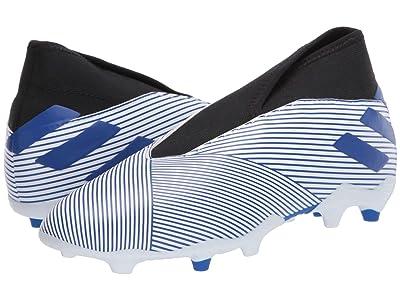 adidas Kids Nemeziz 19.3 LL FG J Soccer (Little Kid/Big Kid) (White/Team Royal/Black) Kids Shoes