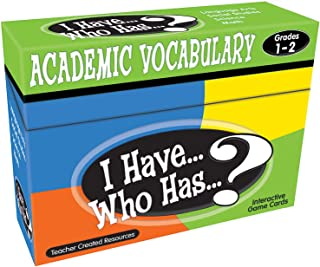 Teacher Created Resources I Have.who Has.? Academic Vocabulary Grds 1-2
