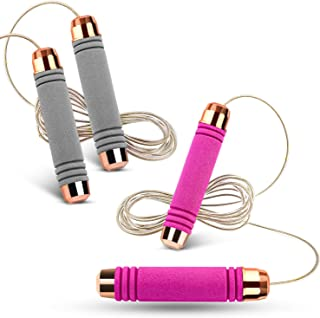Zocy 2 Pack Jump Rope for Workout and Fitness,...