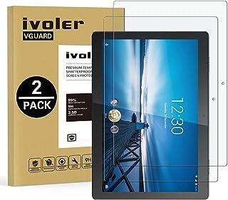 ivoler 2-pack skärmskydd för Lenovo Tab M10 10,1 tum, härdat glasfilm för Lenovo Tab M10 10,1 tum, [9H hårdhet] [Anti-rep...