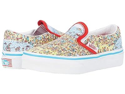 Vans Kids Classic Slip-On (Little Kid) ((Wheres Waldo?) Find Steve/Beach) Kids Shoes