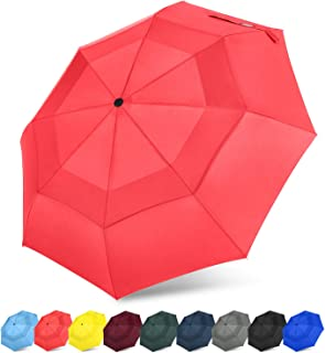 ac941f5c5305f G4Free Compact Travel Umbrella Vented Windproof Double Canopy Auto  Open/Close Folding Umbrella with SAFE