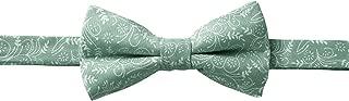 Jacob Alexander Men's Pre-tied Banded Adjustable Floral Bow Tie - Dusty Sage