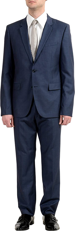 Hugo Boss Aeron2/Hamen2 Men's 100% Wool Blue Two Button Suit US 42R IT 52R