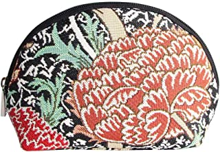 Black Designer William Morris Floral Tapestry Makeup Bag Travel Cosmetic Bag Brush Bag for Women Girls by Signare (COSM -C...