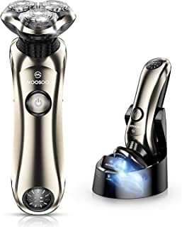 Shaver,MOOSOO Electric Razor for Men, Wet & Dry Electric Shaver with Precision Trimmer, IPX7 Waterproof,5 Mins Fast Charging Technology,Sterilize & Clean Charge Station,LCD Display Battery Power-8G
