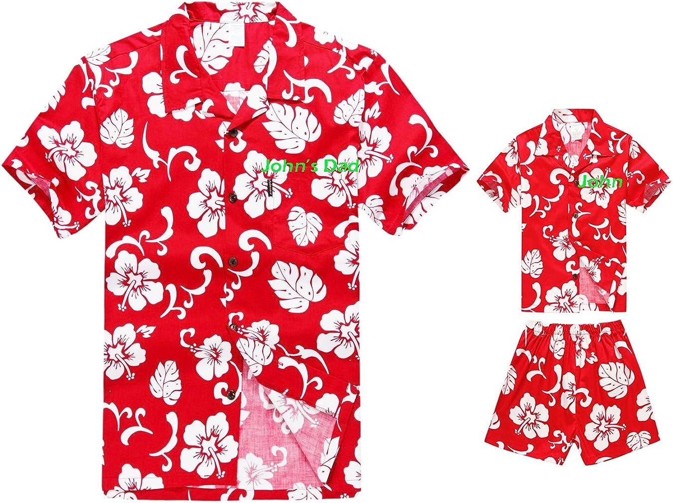 Matching Father Tulsa Mall Son Spring new work Hawaiian Luau Shirt Men Sho Boy Outfit