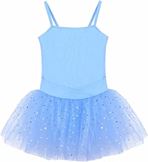 FEESHOW Girls' Camisole Gymnastic Leotard Dress Ballet Tutu Skirt Ballerina Dance