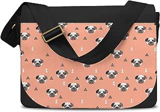 Geometric Pugs Messenger Bag - One Size Messenger Bag