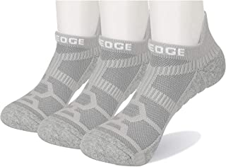 YUEDGE 3 Pairs Unisex Cushion Cotton No Show Ankle Athletic Sports Running Socks