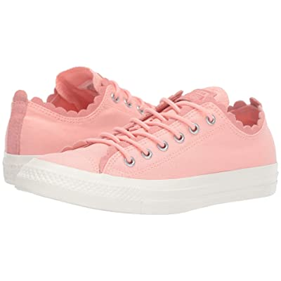 Converse Chuck Taylor All Star Frilly Thrills Canvas Ox (Bleached Coral/Bleached Coral/Egret) Women