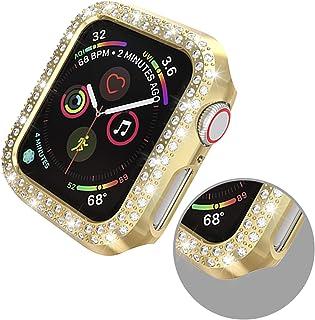 ZAALFC Doble Filas Diamond Watch Funda para la Caja del Protector de la Pantalla de la PC de la PC de Apple 38 / 42mm 40 /...