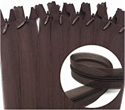 Jinggege 5 / 10st 3# 28cm / 30cm / 40cm / 50cm / 60cm Nylon Onzichtbare Soft Tulle Coil chiffon Zipper Naaien Zijde Ritsen...