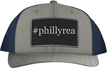 One Legging it Around #Phillyrea - Leather Hashtag Black Patch Engraved Trucker Hat