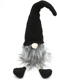 ITOMTE Handmade Swedish Gnome, Scandinavian Tomte, Yule Santa Nisse, Nordic Figurine, Plush Elf Toy, Home Decor, Winter Table Ornament, Christmas Decorations, Holiday Presents - 18 Inches, Black