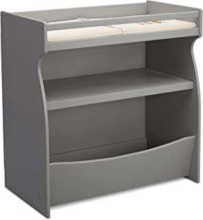 Best Delta Children 2-in-1 Changing Table and Storage Unit with Changing Pad, Grey Review