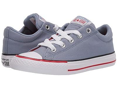 Converse Kids Chuck Taylor(r) All Star(r) Street Varsity Slip-On (Little Kid/Big Kid) (Blue Slate/White) Boy