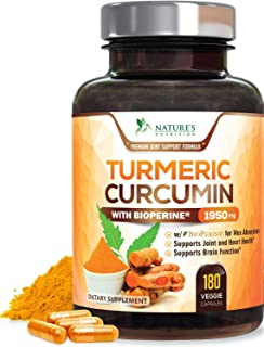 Turmeric Curcumin with BioPerine 95% Curcuminoids 1950mg with Black Pepper for Best Absorption, Made in USA, Most Powerful...