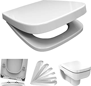 WC Sitz mit Absenkautomatik Softclose eckig   passend für Keramag Renova Nr. 1 Plan  ..