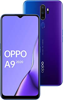 Oppo A9 Dual SIM - 128GB, 8GB RAM, 4G LTE, Space Purple