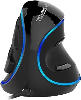 J-Tech Digital V628 (Gen2)Scroll Endurance Mouse Ergonomic Vertical USB Mouse with Adjustable Sensitivity (600/1000/1600 D...