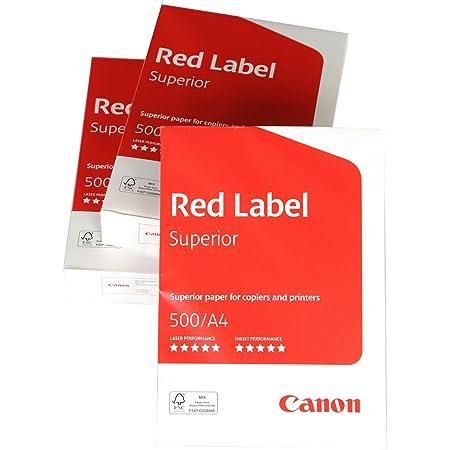 Canon Red Label Superior Lot de 5 packs de 500 feuilles de papier perfor/é 4 trous FSC A4 80 g//m/²