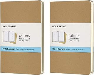Moleskine Cahier Journal (Set of 3), Pocket, Dotted, Kraft, Soft Cover (3.5 x 5.5) Pack of 2