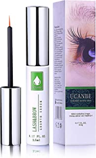 UCANBE Eyelash Growth & Eyebrow Serum, Natural Eye Lash & Brow Enhancer Booster Treatment for Longer, Thicker, and Denser, 0.17FL. OZ.